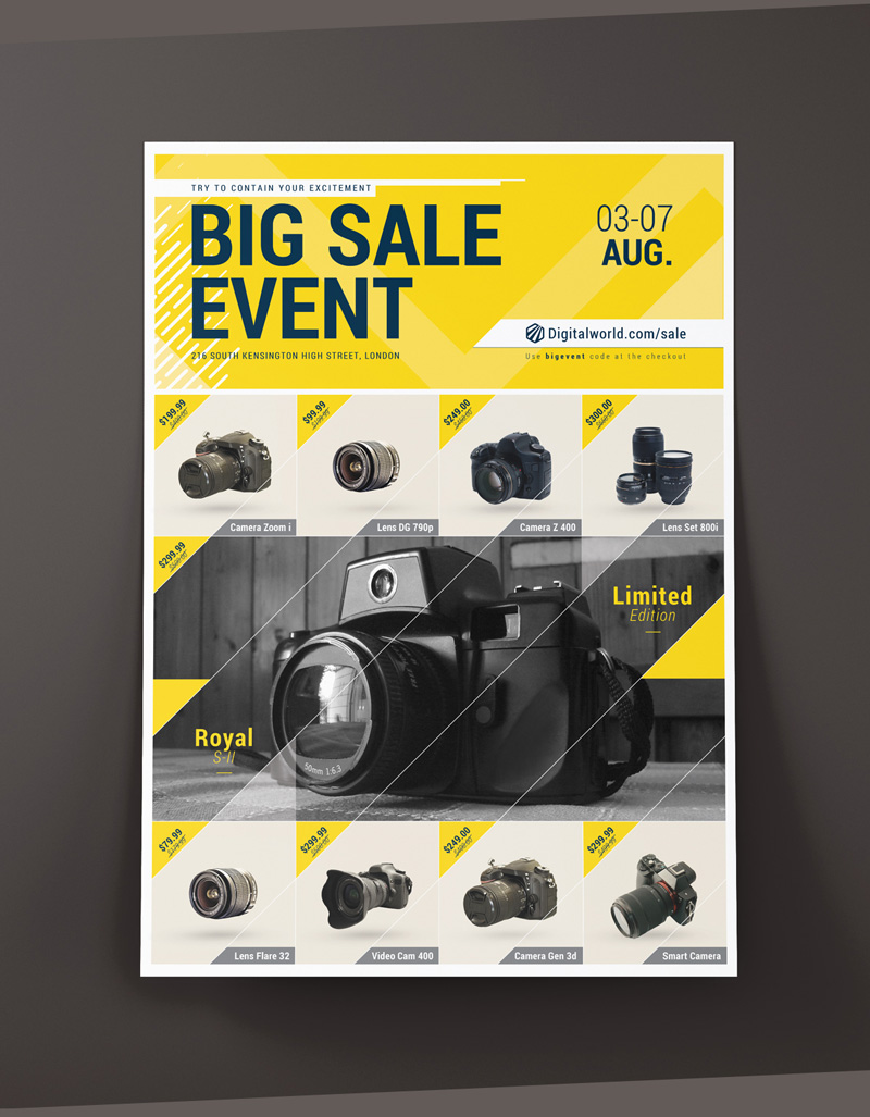 graphics templates vectors and psd s brandsclap e commerce promotional poster flyer template
