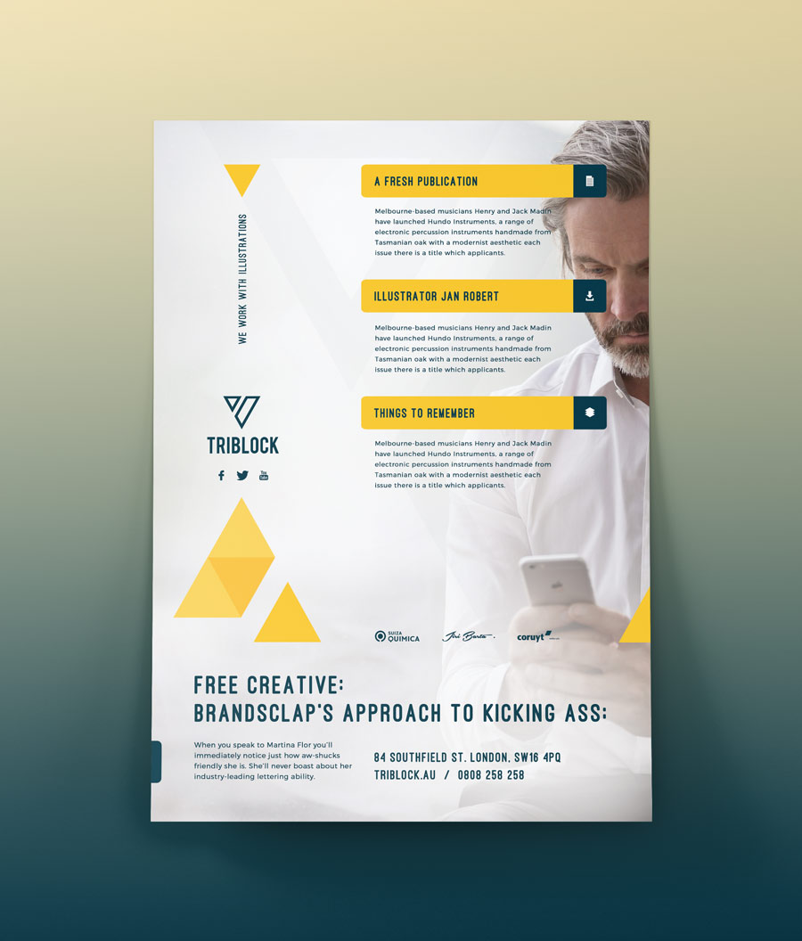 Free Flyer Template Psd Download By Brandsclap